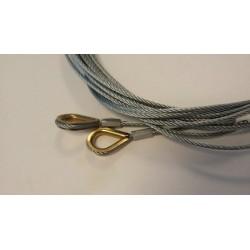 Câbles Long 6250 Ferrure L Hauteur 2490mm Hormann référence 3064362