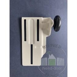 Support roulette supérieur avec galet de guidage, ferrures Z et BZ gauche Hormann Référence 3047260 - 4016312