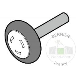Roulette de guidage basse axe 50,5 Ferrure NET L LPU 67 Hormann Référence 3094900