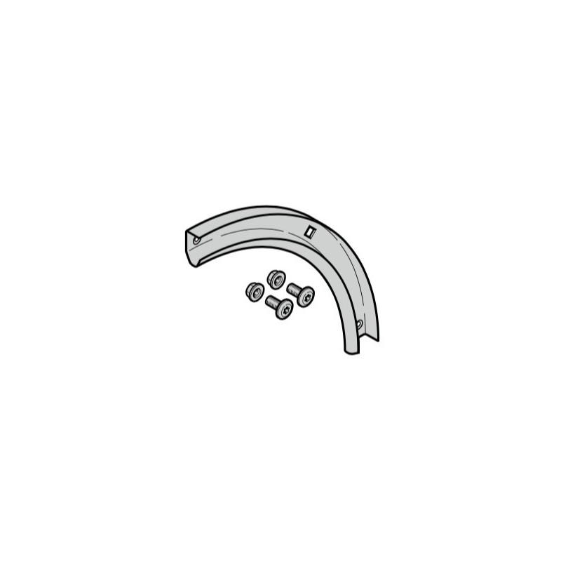 Courbe de rail de guidage 90° de porte de garage sectionnelle Hormann Référence 4012153 - 4015127